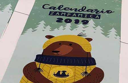 calendario 2019 zampamica lecco
